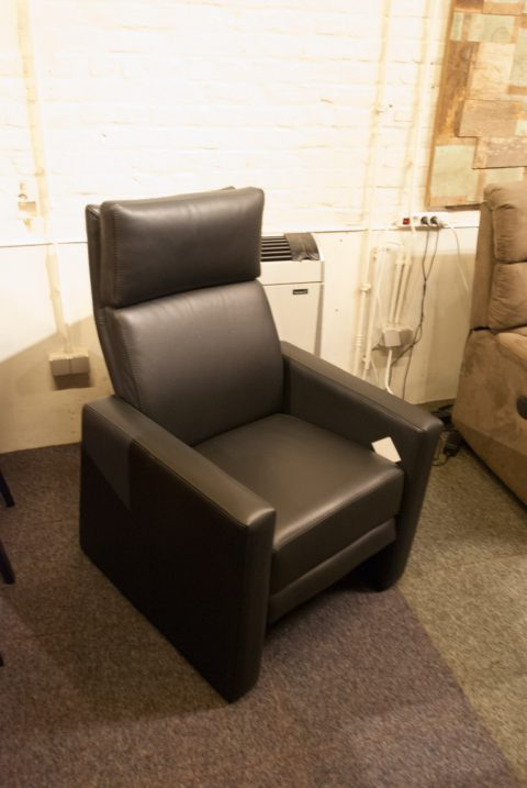 1-zit zetel relax zwart