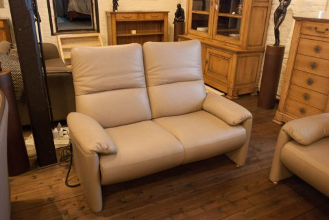 2-zit zetel in wit leder