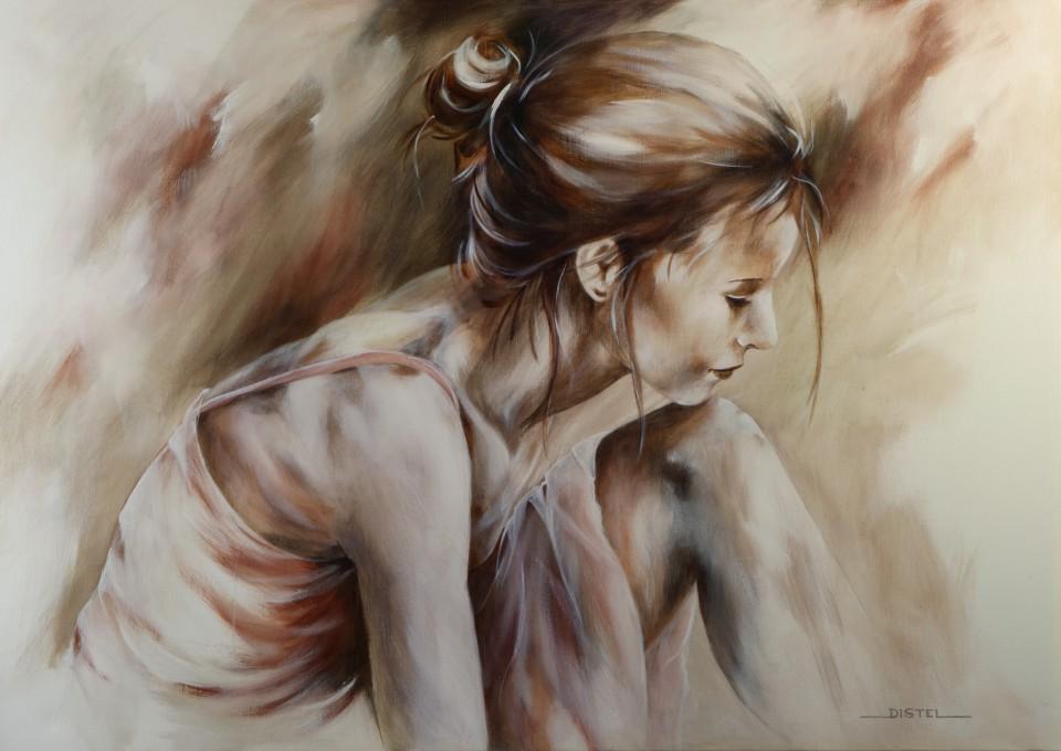 A new day, een schilderij van Distel