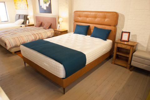 Bed met leren hoofdeinde - ideale slaapcomfort!